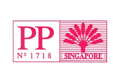 Singapur-Stempel Lizenzfreie Stockfotografie