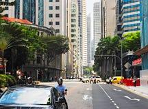 Singapur-Straßenverkehr stockfotos