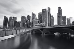 Singapur Syline Fotografia Royalty Free