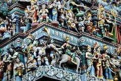Singapur: Templo hindú de Sri Veeramakaliamman fotos de archivo libres de regalías