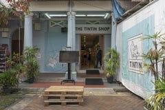 Singapur, tienda de Chinatown - de Tintin en Chinatown fotografía de archivo libre de regalías