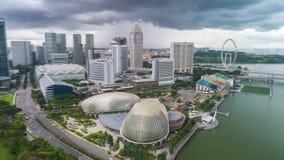 Singapur timelapse Marina zatoki portu Powietrzny widok zbiory wideo