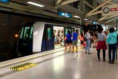 Singapur: Tránsito del ferrocarril ligero (LRT) foto de archivo libre de regalías