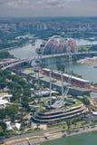 Singapur Ulotka, ferris światowy duży koło Zdjęcia Stock