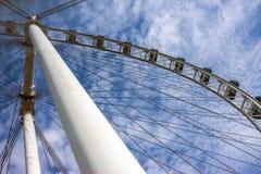 Singapur ulotka - Ferris koło Obraz Stock