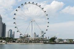 Singapur ulotka gigantyczni ferris toczy wewnątrz Singapur Fotografia Stock