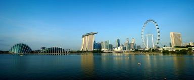 Singapur ulotka i linia horyzontu Singapur Zdjęcie Stock