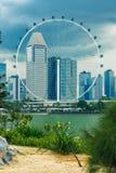 Singapur ulotka przy ogródami zatoką obrazy royalty free