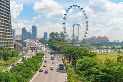 Singapur ulotki gigantyczni ferris toczą wewnątrz Singapur Obrazy Royalty Free