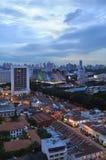 Singapur - una opinión del área Foto de archivo