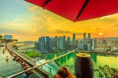 Singapur-Unendlichkeits-Pool lizenzfreies stockbild
