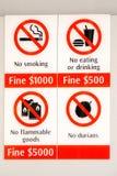 Singapur - verbotene Einzelteile lizenzfreies stockbild