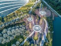 Singapur-Vogelperspektive Stockbild