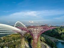 Singapur-Vogelperspektive stockfotografie