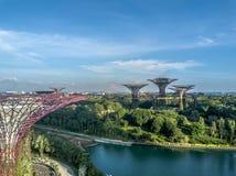 Singapur-Vogelperspektive Lizenzfreie Stockfotografie