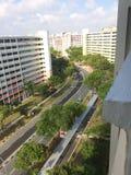 Singapur von den Himmeln Lizenzfreie Stockfotos