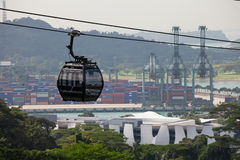 Singapur Wagon Kolei Linowej Obrazy Royalty Free