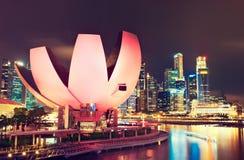 Singapur, widok na nauce i muzeum sztuki Fotografia Royalty Free