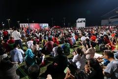 Singapur wybór powszechny SDP 2015 wiec zdjęcie royalty free