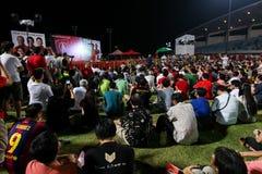 Singapur wybór powszechny SDP 2015 wiec zdjęcie stock