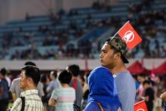 Singapur wybór powszechny SDP 2015 wiec zdjęcia stock