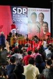 Singapur wybór powszechny SDP 2015 wiec obraz stock