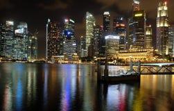 Singapur zatoki nocy widok Obrazy Stock