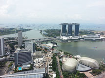 Singapur-zentrale Geschäftsgebiet-Skyline Stockfoto