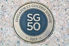 Singapura 50 anos Fotografia de Stock