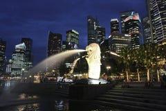 Singapura CBD e Merlion Fotos de Stock