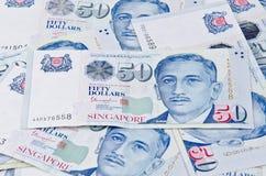 Singapura cinqüênta notas de dólar Foto de Stock Royalty Free
