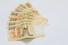 Singapura 100 dólares de cédula Imagens de Stock