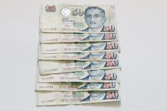 Singapura 50 dólares de cédula Fotografia de Stock Royalty Free