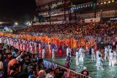 SINGAPURA - 3 DE FEVEREIRO: Festival 2012 de Chingay em Singapura em F Foto de Stock