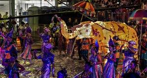 SINGAPURA - 3 DE FEVEREIRO: Festival 2012 de Chingay em Singapura em F Imagem de Stock Royalty Free