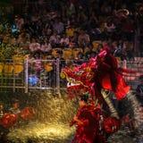 SINGAPURA - 3 DE FEVEREIRO: Festival 2012 de Chingay em Singapura em F Imagens de Stock