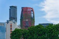 Singapura - 10 de junho de 2018: Hotéis em Singapura com Oas bonito Fotografia de Stock Royalty Free