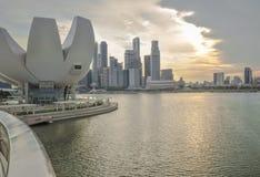 SINGAPURA 31 DE MARÇO: Marina Bay Sands Resort Hotel o 31 de março, Foto de Stock Royalty Free