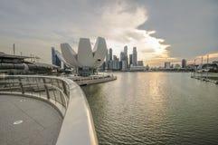 SINGAPURA 31 DE MARÇO: Marina Bay Sands Resort Hotel o 31 de março, Imagem de Stock