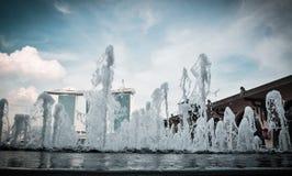 SINGAPURA 31 DE MARÇO: Marina Bay Sands Resort Hotel o 31 de março, Imagem de Stock Royalty Free