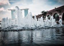 SINGAPURA 31 DE MARÇO: Marina Bay Sands Resort Hotel o 31 de março, Imagens de Stock