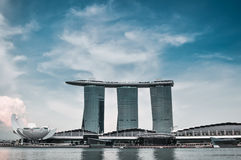 SINGAPURA 31 DE MARÇO: Marina Bay Sands Resort Hotel o 31 de março, Fotos de Stock