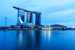 SINGAPURA - 22 DE NOVEMBRO DE 2016: Marina Bay Sands Resort Hotel em N Imagens de Stock Royalty Free