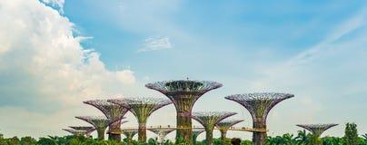 Singapura - 19 de novembro de 2017: Vista panorâmica dos jardins pelo Imagens de Stock