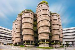 SINGAPURA - 24 DE OUTUBRO DE 2016: Construção arquitetónica moderna de N Imagem de Stock
