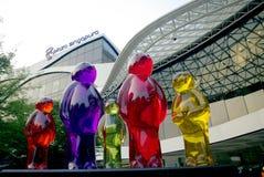 Singapura della plaza nella scultura di Singapore fotografie stock