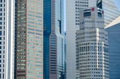 Singapura, em abril de 2017: O distrito financeiro central de Singapura Imagens de Stock Royalty Free