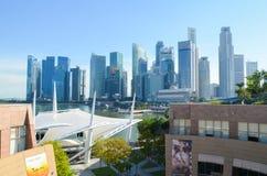 Singapura, em abril de 2017: O distrito financeiro central de Singapura Imagem de Stock