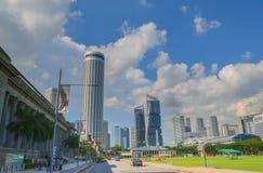 Singapura, em abril de 2017: O distrito financeiro central de Singapura Foto de Stock