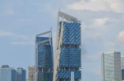 Singapura, em abril de 2017: O distrito financeiro central de Singapura Fotos de Stock
